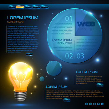 blue web infographics template design vector