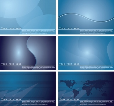 presentation template sets modern dark blue decor