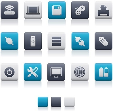 bluegray theme icon vector