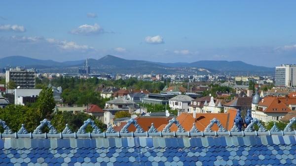 blue-sky zsolnay roof budapest