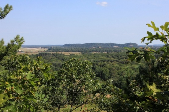 bluff views at mill bluff state park wisconsin