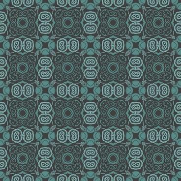 Bluish floral wallpaper