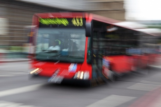 blur blurred bus
