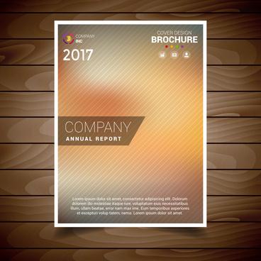 blur brochure design template