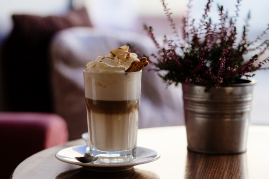 breakfast with cream milk coffee