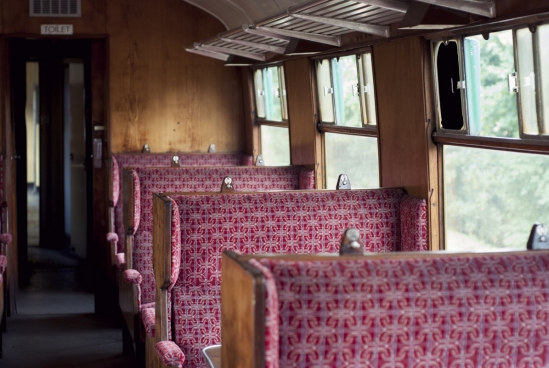 empty seats on old train