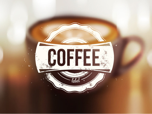 blurred coffee background graphic vector