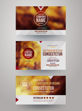 blurred corporate business cards template vector