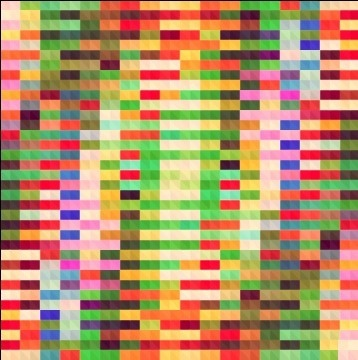 blurred mosaic colored background art vector
