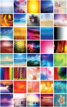 blurred mosaics vector background set