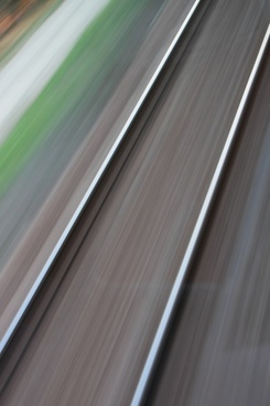 blurred motion railway
