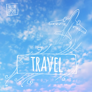 blurred summer travel creative background