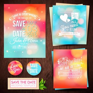 Vector elements free vector in adobe illustrator ai vector blurred wedding invitation cards vector elements stopboris Image collections