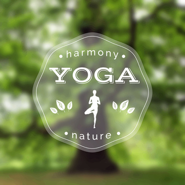 blurred yoga creative background vectors set
