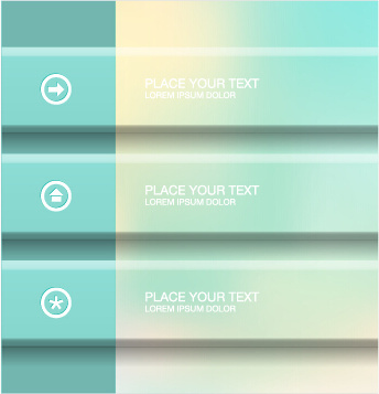 blurry banner business template background