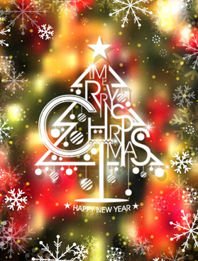 blurs christmas and new year vector