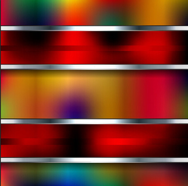 blurs colorful background with metal vector