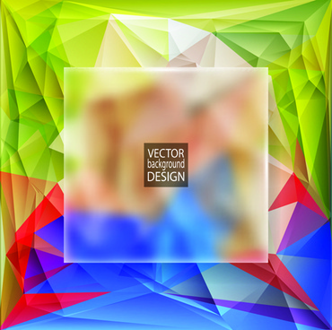 blurs glass with polygonal backgrounds vector