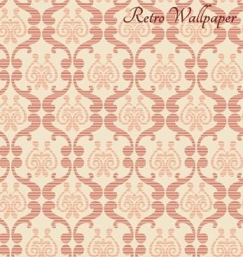 blurs retro floral pattern vector