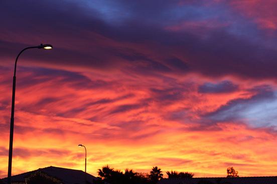 blythe sunset