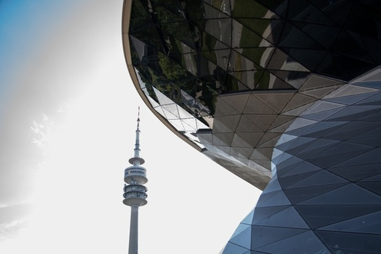 bmw world tv tower munich