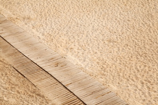 boardwalk on sand