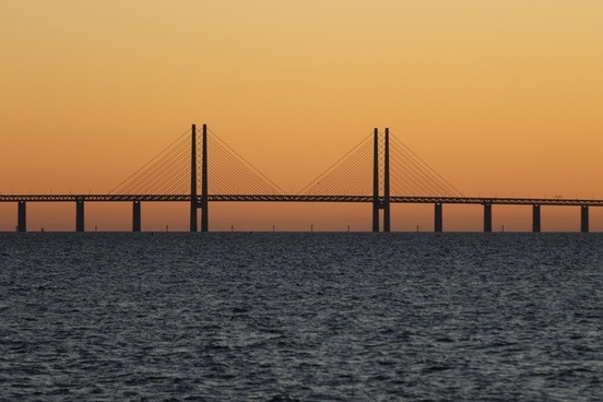 boat bridge electricity energy evening light pier