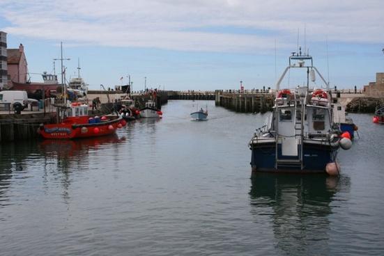 boat entering harbour