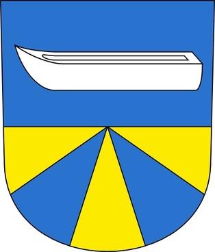 Boat Water Lake Coat Of Arms clip art
