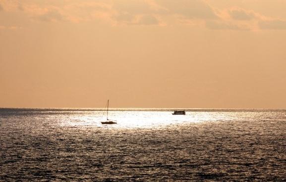 boats fishing sea