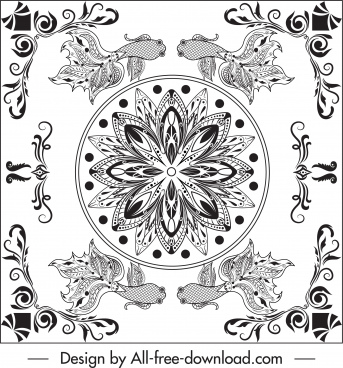 boder templates elegant symmetric oriental decor