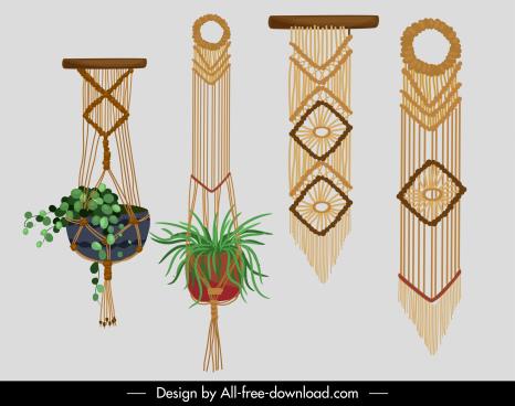 boho decorative knitting templates retro elegant tribal design
