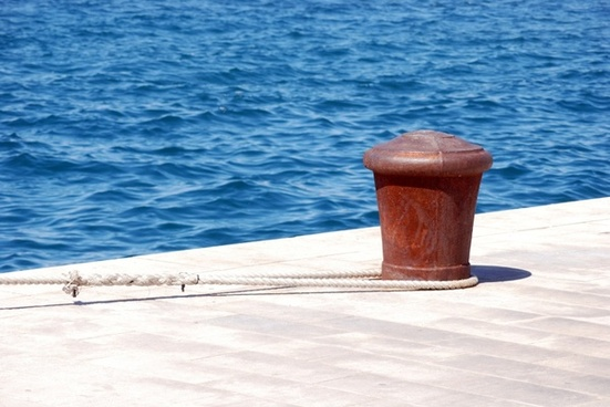 bollard at the port