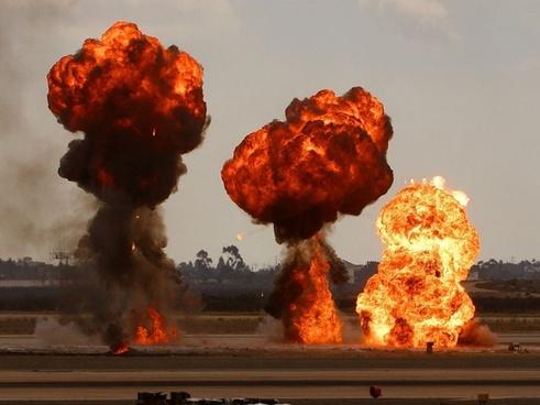 bomb explosions war
