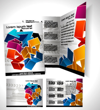 book and folder cover design vector graphics