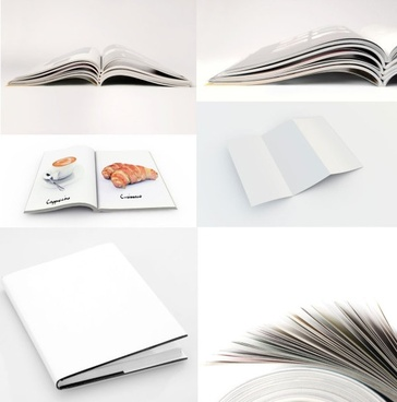 book folding effect diagram template definition picture