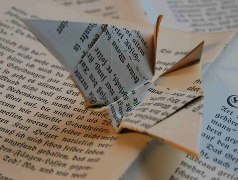 book origami paper