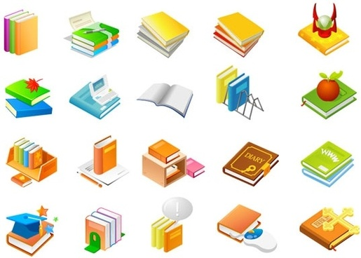 book series of eleven icon vector