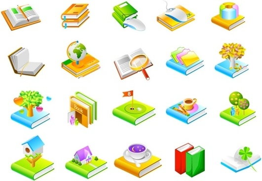 book series seven icon vector