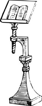 Book Stand clip art