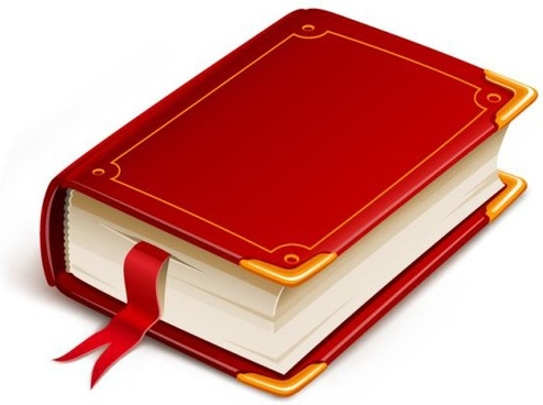 book icon colored 3d design