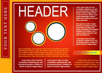booklet flyer cover design vector set