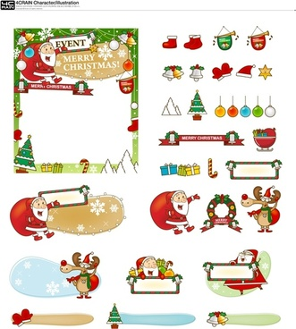 bookmark and christmas gifts vector