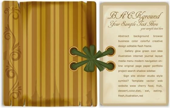 bookmark beautifully retro 01 vector
