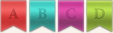 Bookmark Ribbons PSD