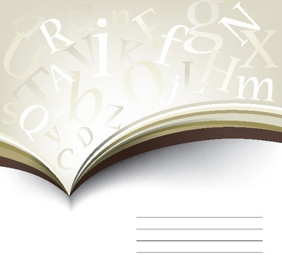 books letters 01 vector