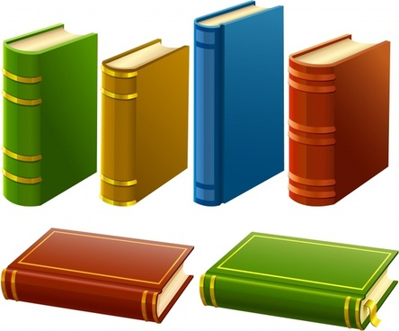 education background books icons colored 3d design