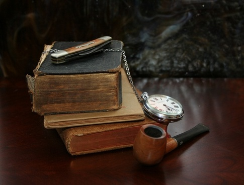 books watch knife