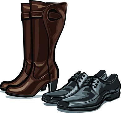 boots design vector set