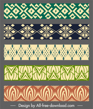 border decorative elements elegant flat repeating symmetric design